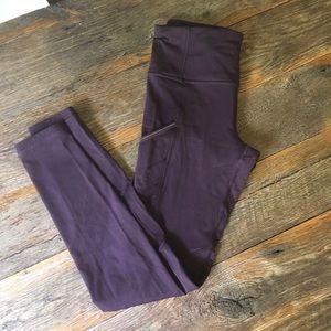 Lululemon leggings, dark purple, size 6
